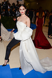 Emmy Rossum arriving at The Metropolitan Museum of Art Costume Institute Benefit celebrating the opening of Rei Kawakubo / Comme des Garcons : Art of the In-Between held at The Metropolitan Museum of Art  in New York, NY, on May 1, 2017. (Photo by Anthony Behar) *** Please Use Credit from Credit Field ***