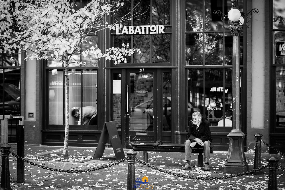 Gastown. Maple Tree Square. Vancouver, Canada.