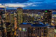 Seattle, Washington skyline at dawn