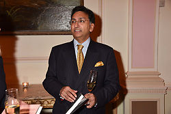 Prince Mangal Kapoor at a reception to celebrate the publication on 'Mother Anguish' by Basia Briggs held in The Music Room, The Ritz Hotel, 150 Piccadilly, London, England. 04 December 2017.