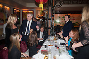 KATE MOSS; PRINCE ANDREW; TOM PARKER BOWLES; THE DUCHESS OF YORK, Chinese New Year dinner given by Sir David Tang. China Tang. Park Lane. London. 4 February 2013.