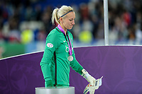 Katarzyna Kiedrzynek of  Paris Saint-Germain looks dejected during the UEFA Women's Champions League Final between Lyon Women and Paris Saint Germain Women at the Cardiff City Stadium, Cardiff, Wales on 1 June 2017. Photo by Giuseppe Maffia.<br /> <br /> Giuseppe Maffia/UK Sports Pics Ltd/Alterphotos