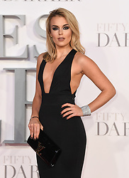Tallia Storm arriving for the Fifty Shades Darker European Premiere held at Odeon Leicester Square, London. Picture date: Thursday February 9, 2016. Photo credit should read: Doug Peters/ EMPICS Entertainment