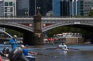 """Schoolgirls are seen rowing during an 'Introduction to Rowing"""" day held at the boatsheds during the COVID-19 in Melbourne. With over a week of zero cases in Victoria, Premier Daniel Andrews is expected to make major announcements on Sunday about further easing of restrictions. (Photo by Dave Hewison/Speed Media)"""