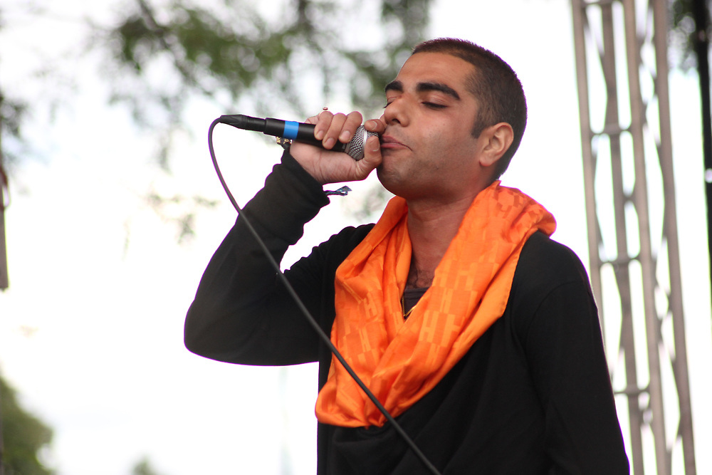 Heems performing at Riot Fest in Chicago, IL on September 11, 2015.