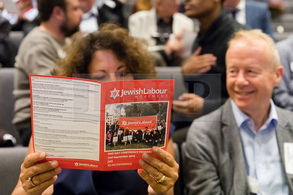 © Licensed to London News Pictures. 02/09/2018. London, UK.  Delegates arrive at the Jewish Labour Movement Conference 2018..  Photo credit: Vickie Flores/LNP