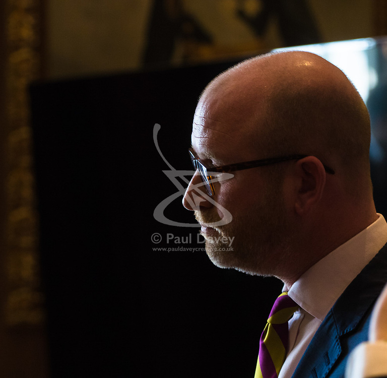 Westminster, London, March 27th 2017. Ahead of the Prime Minister triggering Article 50 next week, UKIP Leader Paul Nuttall sets out six key tests by which the country can judge Theresa May's Brexit negotiations in a keynote speech in London. CREDIT: ©Paul Davey<br /> <br /> ©Paul Davey<br /> FOR LICENCING CONTACT: Paul Davey +44 (0) 7966 016 296 paul@pauldaveycreative.co.uk