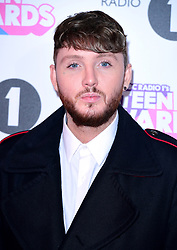 James Arthur attending BBC Radio 1's Teen Awards, at the SSE Arena, Wembley, London
