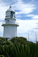 Tsurugasaki Lighthouse is located at the tip of the Miura Peninsula, near the mouth of Tokyo Bay. It's position along a rocky coast makes it important for the many ships in the area.