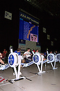 2004_British_Indoor_Rowing_Championships.NIA. Birmingham.England. 21.11.2004.GV's competition area, and electronics information board.[Mandatory Credit Peter Spurrier/ Intersport Images]