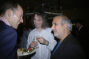 The Prince of Preslav, Ivor Braka and Alan Yentob, Party for Jean Pigozzi hosted by Ivor Braka to thank him for the loan exhibition 'Popular Painting' from Kinshasa'  at Tate Modern. Cadogan sq. London. 29 May 2007.  -DO NOT ARCHIVE-© Copyright Photograph by Dafydd Jones. 248 Clapham Rd. London SW9 0PZ. Tel 0207 820 0771. www.dafjones.com.