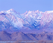 Dawn on Mt. Whitney and the Sierra Nevada Mts. CA.