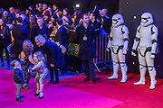Warwick Davis' family take a selfie -  The European Premiere of STAR WARS: THE FORCE AWAKENS - Odeon, Empire and Vue Cinemas, Leicester Square, London.