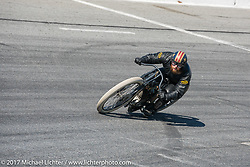 Matt Harris riding his 40 Cal Customs 1923 Harley-Davidson Model J in Billy Lane's Son's of Speed race during Daytona Bike Week. New Smyrna Beach, FL. USA. Saturday March 18, 2017. Photography ©2017 Michael Lichter
