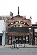 The Bowery on Rathmines Road on 06th April 2017 in Dublin, Republic of Ireland. The Bowery, based in the bohemian area of Rathmines, is a dedicated live music venue with Rum bar. Dublin is the largest city and capital of the Republic of Ireland.