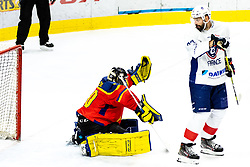 Zoltan Toke of Romania and Sacha Treille of France during match at Beat Covid 19 IIH Tournament 2021 between national teams of Romania and France in Hala Tivoli on 15th of May, 2021, Ljubljana, Slovenia . Photo By Morgan Kristan / Sportida