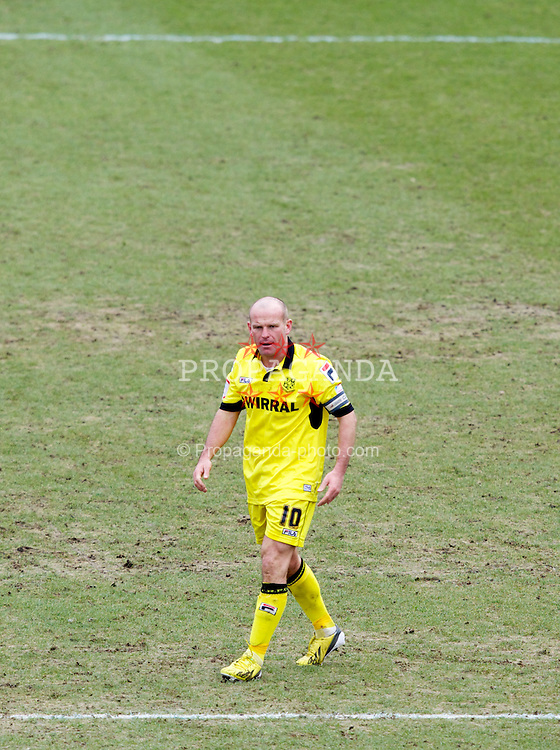 COLCHESTER, ENGLAND - Saturday, February 23, 2013: Tranmere Rovers' captain Andy Robinson in action against Colchester United during the Football League One match at the Colchester Community Stadium. (Pic by Vegard Grott/Propaganda)