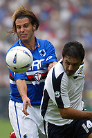 Genova 13/9/2003 <br />Sampdoria -  Lazio 1-2<br />A challenge between Cristiano Doni (Sampdoria) and Stefano Fiore (Lazio) <br />Foto Andrea Staccioli Graffiti