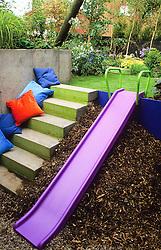 Children's slide amd concrete steps