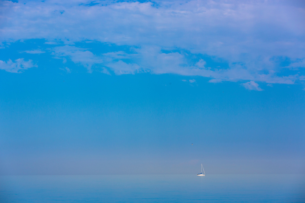 Sailing on Lake Michigan near Manitowoc, Wisconsin.  Photo by Mike Roemer