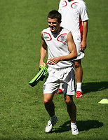 Photo: Chris Ratcliffe.<br /> England Training Session. FIFA World Cup 2006. 24/06/2006.<br /> Michael Carrick in training.