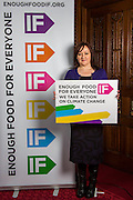 Kerry McCarthy MP supporting the Enough Food for Everyone?IF campaign. .MP's and Peers attended the parliamentary launch of the IF campaign in the State Rooms of Speakers House, Palace of Westminster. London, UK.