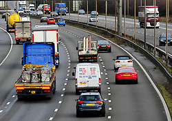 File photo dated 22/03/17 of of vehicles travelling along the M1 motorway, as a study has found there is a lack of awareness among motorists of the emergency refuge areas on smart motorways.