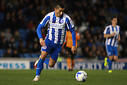 Brighton & Hove Albion winger Anthony Knockaert during the EFL Sky Bet Championship match between Brighton and Hove Albion and Wolverhampton Wanderers at the American Express Community Stadium, Brighton and Hove, England on 18 October 2016. Photo by Bennett Dean.
