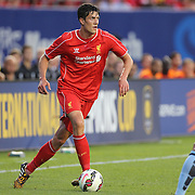 Martin Kelly, Liverpool, in action during the Manchester City Vs Liverpool FC Guinness International Champions Cup match at Yankee Stadium, The Bronx, New York, USA. 30th July 2014. Photo Tim Clayton