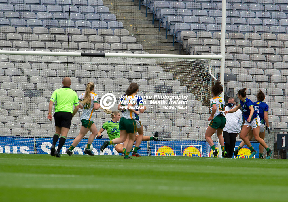 26-06-21. Meath v Kerry - Lidl Ladies National Football League Division 2 Final at Croke Park.<br /> Meath first goal.<br /> Photo: John Quirke / www.quirke.ie<br /> ©John Quirke Photography, 16 Proudstown Road, Navan. Co. Meath. (info@quirke.ie / 046-9028461 / 087-2579454).