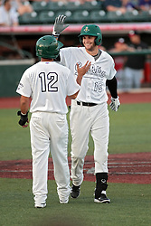 06 June 2014:  Santiago Chirino & Sam Judah during a Frontier League Baseball game between the Frontier Freedom and the Normal CornBelters at Corn Crib Stadium on the campus of Heartland Community College in Normal Illinois