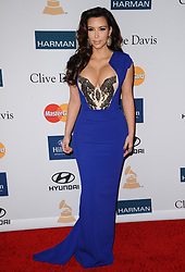 Kim Kardashian attends the Clive Davis pre-GRAMMY Gala and Salute to Industry Icons Honoring Richard Branson at the Beverly Hilton Hotel in Los Angeles, CA, USA, February 11, 2012. Photo by Lionel Hahn/ABACAPRESS.COM  | 308211_048 Los Angeles Etats-Unis United States