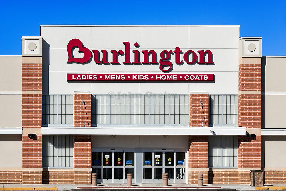 Burlington Coat Factory store exterior, Mt, Laural, New Jersey, USA