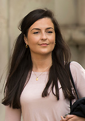 © Licensed to London News Pictures. 11/05/2021. London, UK. Labour Party staff member Laura Murray rrives at The Royal Courts of Justice in London where she is currently being sued by Television presenter RACHEL RILEY for libel over a social media post. Photo credit: Ben Cawthra/LNP