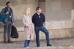 Tom Cruise and Vanessa Kirby on set of Mission Impossible 6 in Paris, France on April 30, 2017. Photo by Nasser Berzane/ABACAPRESS.COM