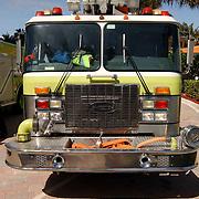 Vakantie Miami Amerika, brandweerwagen, ladderwagen engine 10