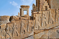 Iran, province du Fars, Persepolis, patrimoine mondial de l'UNESCO, palais de Darius I // Iran, Fars Province, Persepolis, World Heritage of the UNESCO, Darius 1st palace