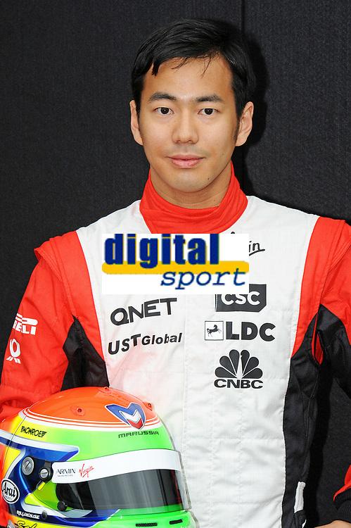 MOTORSPORT - F1 2011 - PRESENTATION DES PILOTES / DRIVERS PRESENTATION - MELBOURNE (AUS) - 25 TO 27/03/2011 - PHOTO : ERIC VARGIOLU / DPPI - <br /> YAMAMOTO SAKON (JPN) - MARUSSIA VIRGIN RACING MVR-02 - AMBIANCE PORTRAIT
