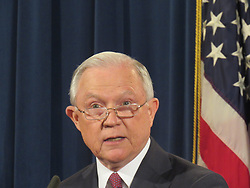 September 5, 2017 - Washington, DC, United States - US Attorney General Jeff Sessions speaks regarding the Deferred Action for Childhood Arrivals (DACA) program on September 5, 2017, at the Justice Department in Washington, DC. US President Donald Trump on Tuesday ended an amnesty that protected from deportation 800,000 people brought to the United States illegally as minors. 'I am here today to announce that the program known as DACA that was effectuated under the Obama Administration is being rescinded,' Sessions said. (Credit Image: © Kyle Mazza/NurPhoto via ZUMA Press)