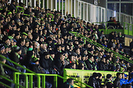 The East stand during the The FA Cup 1st round replay match between Forest Green Rovers and Oxford United at the New Lawn, Forest Green, United Kingdom on 20 November 2018.