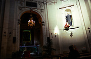 Interior of Church of Saint Annunciation of the Catalans, Messina, Sicily, Italy 1998