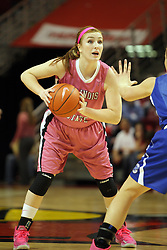10 February 2013:  Alexis Foley during an NCAA women's basketball game where the Creighton Bluejays lost to the Illinois Sate Redbirds 66-60 at Redbird Arena in Normal IL
