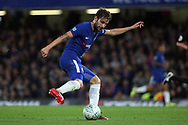 Cesc Fabregas of Chelsea in action. Carabao Cup 3rd round match, Chelsea v Nottingham Forest at Stamford Bridge in London on Wednesday 20th September 2017.<br /> pic by Steffan Bowen, Andrew Orchard sports photography.