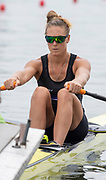 Poznan, POLAND, 21st June 2019, Friday, Morning Heats, NZL W1X, Emma TWIGG, FISA World Rowing Cup II, Malta Lake Course, © Peter SPURRIER/Intersport Images,<br /> <br /> 11:56:56