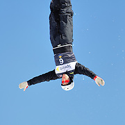 David Morris (AUS) performs aerial acrobatics during the 2009 Sprint US Freestyle Championships held at the Utah Olympic Park in Park City on March 8, 2009. Morris scored 146.11 points on the day which was good enough for 9th place overall.