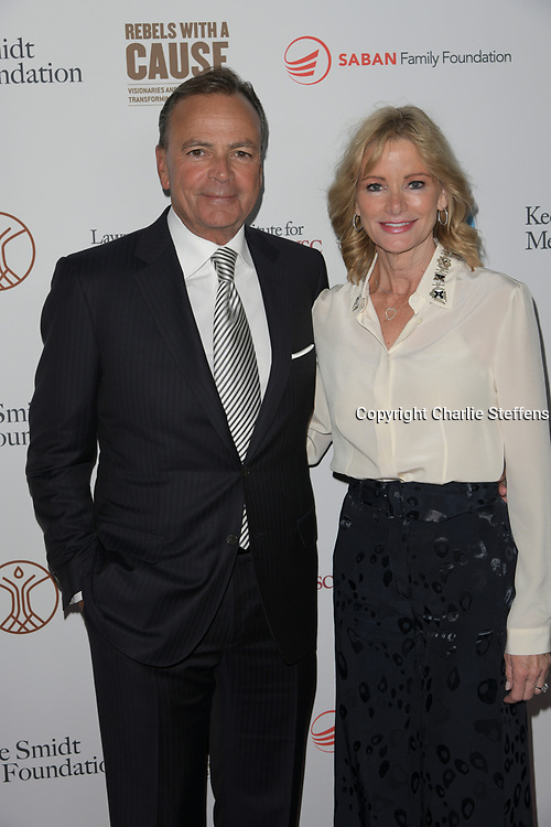 attends the 'Rebels With A Cause'  benefitting the Lawrence J. Ellison Institute for Transformative Medicine of USC at The Water Garden in Santa Monica, California.