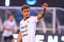 September 11, 2018 - East Rutherford, NJ, U.S. - EAST RUTHERFORD, NJ - SEPTEMBER 11:  Argentina forward Paulo Dybala (21) waves to the crowd prior to the International Friendly Soccer game between Argentina and Colombia on September 11, 2018 at MetLife Stadium in East Rutherford, NJ.   (Photo by Rich Graessle/Icon Sportswire) (Credit Image: © Rich Graessle/Icon SMI via ZUMA Press)