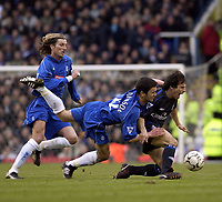 Copyright Sportsbeat. 0208 3926656<br />Picture: Henry Browne<br />Date: 8/02/2003<br />Birmingham v Chelsea FA Barclaycard Premiership<br />Gianfranco Zola of Chelsea is bought down by Birmingham's Damien Johnson for a foul