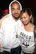 """l to r: DJ Enuff and DJ Miss Saigon at The YRB Magazine's """" How You Rock It 3 """" with a special performance by Busta Ryhmes and hosted by YRB held at M2 Lounge on May 19, 2009 in New York City."""