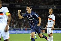 FOOTBALL - FRENCH CHAMPIONSHIP 2012/2013 - L1 - PARIS SG v FC LORIENT - 11/08/2012 - PHOTO JEAN MARIE HERVIO / REGAMEDIA / DPPI - JOY ZLATAN IBRAHIMOVIC (PSG) AFTER HIS 1ST GOAL